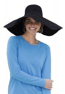 Coolibar---XL-UV-Schlapphut-für-Damen---Schwarz