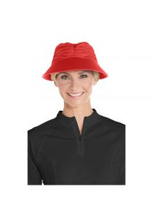 Coolibar---UV-Sonnenkappe-für-Damen---Mohnblumen-Rot