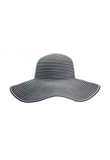 Coolibar---UV-Schlapphut-für-Damen---Ginger-Ribbon---Schwarz/Weiß