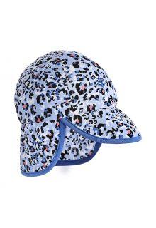 Coolibar---UV-Sonnenkappe-mit-Nackenschutz-für-Babys---Splashy---Cheetah
