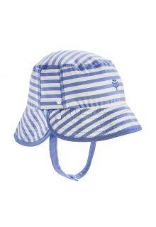 Coolibar---UV-Bucket-Hut-für-Babys---Linden---Meeresblau/Weiß