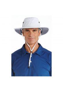 Coolibar---UV-Sonnenhut-für-Herren---Weiß-/-Grau