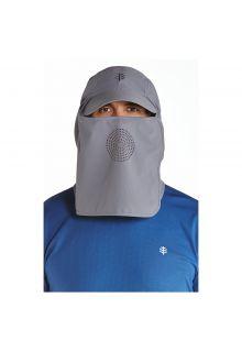 Coolibar---UV-Sonnenkappe-mit-Hals--und-Gesichtsbedeckung---Grau