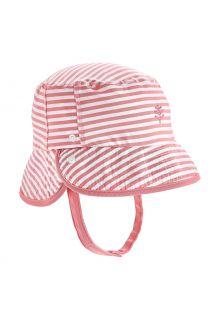 Coolibar---UV-Bucket-Hut-für-Babys---Linden---Seashell/Weiß