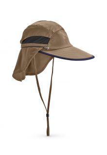 Coolibar---Verstellbare-UV-Angelkappe-für-Herren---Calec---Khaki/Navy