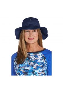 Coolibar---UV-Anglerhut-für-Damen---Marineblau