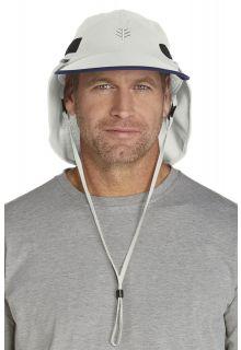 Coolibar---UV-Kopfschutz-Kappe-Herren---stone