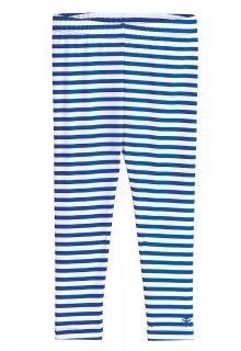 Coolibar---UV-Schwimmleggings-für-Babys---Blau/Weiß-gestreift