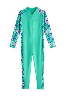 Coolibar---UV-Schwimmanzug-für-Mädchen---Barracuda-Hals-zu-Knöchel---Meeresminze