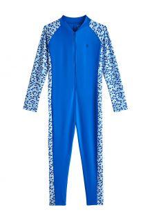 Coolibar---UV-Schwimmanzug-für-Mädchen---Barracuda-Hals-zu-Knöchel---Marlin-Blau
