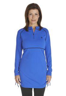 Coolibar---UV-Schwimmshirt-Damen---Kobalt-Blau