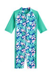 Coolibar---UV-Schwimmanzug-für-Mädchen---Barracuda-Hals-zu-Knie---Meeresminze