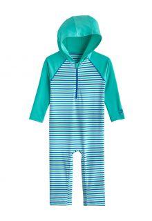 Coolibar---UV-Schwimmanzug-mit-Kapuze-für-Babys---Finn---Meeresminze/Marlin-Blau