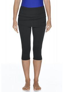 Coolibar---UV-Capri-Leggings-mit-Rock-Damen---schwarz