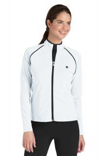 Coolibar---UV-Jacke/Schwimmjacke-Damen---weiß--schwarz
