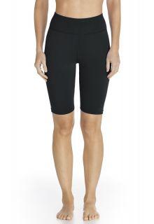 Coolibar---UV-Schwimm-/-Sport-Leggings-kurz-Damen---schwarz