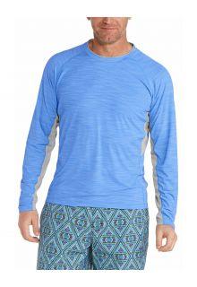 Coolibar---UV-Badeshirt-für-Herren---Langärmlig---Ultimate-Rash---Surf-Blau