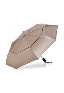 Coolibar---UV-schützender-Regenschirm---Sodalis-Travel---Gold/Aqua