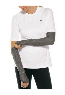 Coolibar---UV-schützende-Performance-Sleeves-für-Damen---Backspin---Anthrazit