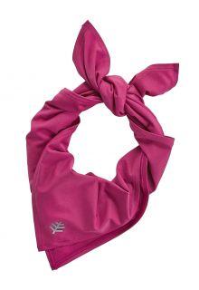 Coolibar---UV-schützendes-Sportbandana-für-Erwachsene---Virasana---Rhubarb