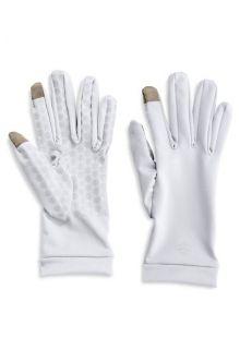 Coolibar---UV-schützende-Handschuhe-für-Touchscreens---Weiß
