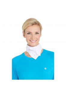 Coolibar---UV-schützendes-Sportbandana-für-Erwachsene---Virasana---Weiß