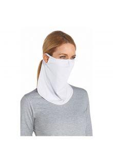 Coolibar---UV-Sonnenschutzmaske-unisex---Lang---Weiß