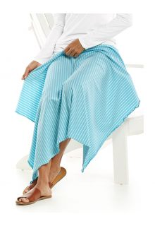 Coolibar---UV-schützende-Sonnendecke---Savannah---Eisblau/Weiß