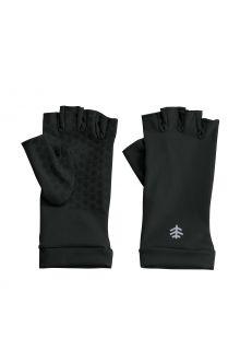 Coolibar---UV-schützende-fingerlose-Handschuhe-für-Erwachsene---Ouray---Schwarz