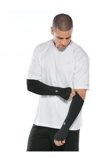 Coolibar---UV-schützende-Performance-Sleeves-für-Herren---Backspin---Schwarz
