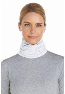 Coolibar---UV-schützender-Kragen-für-Hals-und-Gesicht---Weiß