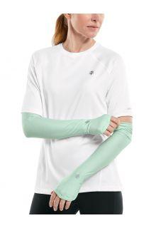 Coolibar---UV-schützende-Performance-Sleeves-für-Damen---Backspin---Aqua-Mist