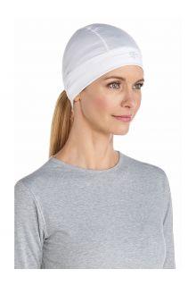 Coolibar---UV-Schutzmütze-für-unter-Hüte-ohne-UPF-Schutz---Hubbard---Weiß
