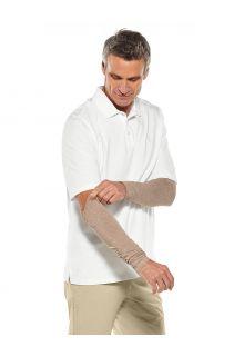 Coolibar---UV-schützende-Ärmel-für-Herren---Navagio---Dunkel-Taupe