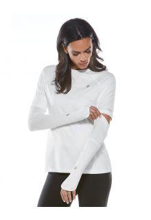 Coolibar---UV-schützende-Performance-Sleeves-für-Damen---Backspin---Weiß