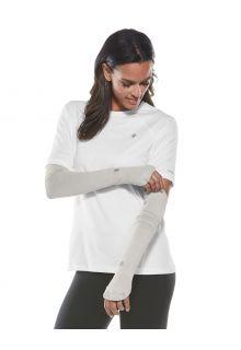Coolibar---UV-schützende-Performance-Sleeves-für-Damen---Backspin---Silber