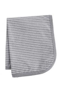 Coolibar---UV-schützende-Sonnenschutzdecke-für-Babys---Batibou---Grau/Weiß