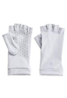 Coolibar---UV-schützende-fingerlose-Handschuhe---Weiß