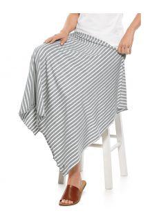 Coolibar---UV-schützende-Sonnendecke---Savannah---Grau/Weiß