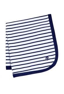 Coolibar---UV-schützende-Sonnenschutzdecke-für-Babys---Batibou---Weiß/Marineblau