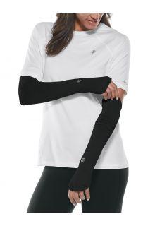 Coolibar---UV-schützende-Performance-Sleeves-für-Damen---Backspin---Schwarz