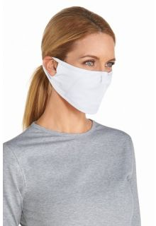 Coolibar---UV-schützende-Maske---Weiß