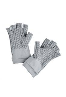 Coolibar---UV-schützende-fingerlose-Handschuhe-für-Erwachsene---Ouray---Kieselgrau