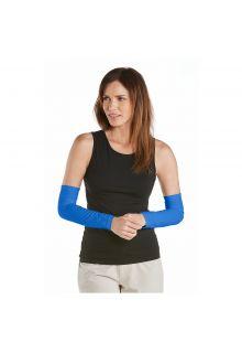 Coolibar---UV-Armstulpen-für-Damen---Meeresblau