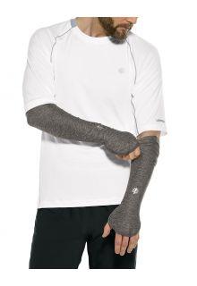 Coolibar---UV-schützende-Performance-Sleeves-für-Herren---Backspin---Anthrazit
