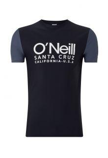 O'Neill---Kurzärmliges-UV-Shirt-für-Herren---Cali---Schwarzgrau