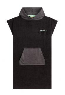 O'Neill---Kapuzenhandtuch-für-Herren---ärmellos---Jack's-Towel---Schwarzgrau