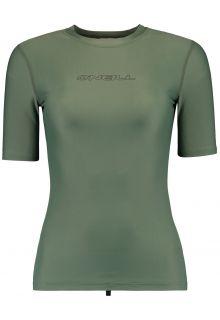 O'Neill---Kurzärmliges-UV-Shirt-für-Damen---Essential---Seerosengrün