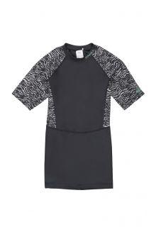 O'Neill---Langes-UV-Shirt-für-Damen---kurze-Ärmel---Mix---Schwarz