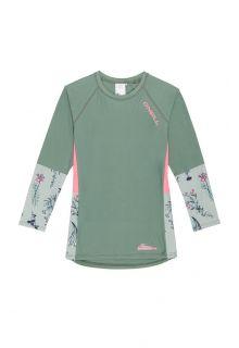 O'Neill---UV-Shirt-für-Mädchen---Longsleeve---Print---Seerosengrün
